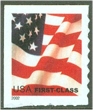 3625 USA First Class Flag ATM Stamp
