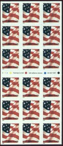 3625a USA First Class Flag Stamp ATM Pane