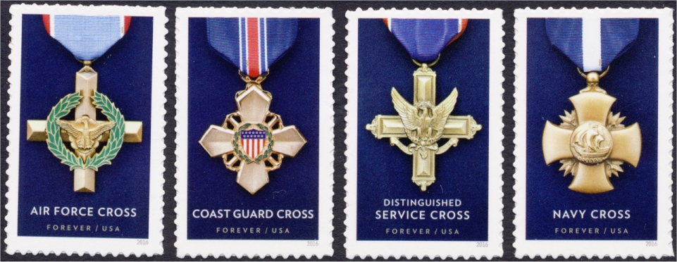 #5065-68 Honoring Extraordinary Heroism: The Service Cross Medals, Set of  Four Singles