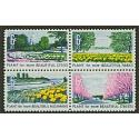 #1368a Beautification, Block of Four