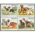 #2101a Dogs, Block of Four