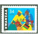 #3548 34¢ Kwanzaa (Issued in 2001)