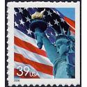 #3978av Flag & Lady Liberty, Single from Convertible Book of Ten