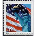 #3978bv Flag & Lady Liberty, Single from Convertible Book of 20