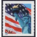#3981 Flag & Lady Liberty, Coil Die-cut 9½
