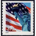 #3982 Flag & Lady Liberty, Coil Die-cut 10¼