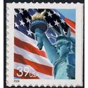 #3985 Flag & Lady Liberty, Single from S-A Two-sided Pane of 20