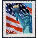 #3985b Flag & Lady Liberty, Single from Vending Book, Die Cut 11