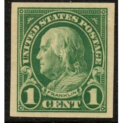 #575 1¢ Franklin, Green, VLH