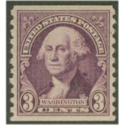 #721 3¢ Washington, Coil Perforated 10 Vertical