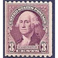 #722 3¢ Washington Purple, Coil Perforated 10 Horizontal