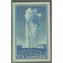 #760 Yellowstone Park, Old Faithful, Imperforate