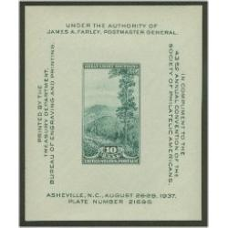 #797 Society of Philatelic Americans Souvenir Sheet