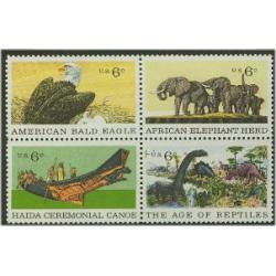#1390a Natural History - Conservation, Block of Four