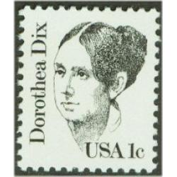 #1844 Dorothea Dix, Journalist, Perforated 11.2