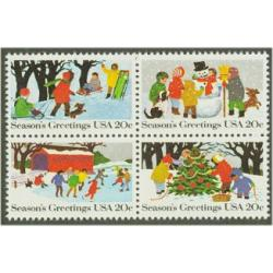 #2030a Christmas - Winter Scenes, Block of Four