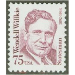 #2192 Wendell Willkie, Lawyer, Solid Tagging, Dull Gum