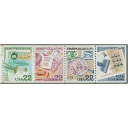 #2201a Stamp Collecting, Booklet Pane of Four
