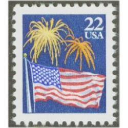 #2276 Flags & Fireworks, Sheet Stamp