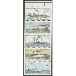 #2405-09 Steamboats, Five Booklet Singles