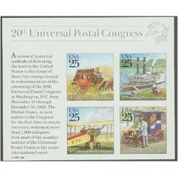 #2438 Traditional Mail Delivery, Souvenir Sheet of Four