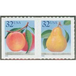 #2493-94 Peach & Pear Pair, From #2494a