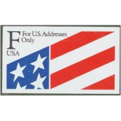 "#2522 ""F"" and Flag, ATM Self-adhesive Booklet Single"