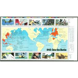 #2697 World War II Souvenir Sheet (1942)