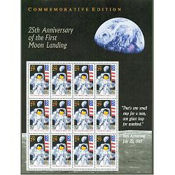 #2841 Moon Landing Souvenir Sheet