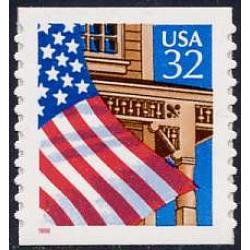 #2915C Flag over Porch, S-A Coil Die-cut 10.9