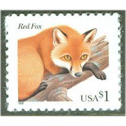 #3036 Red Fox, One Dollar Stamp