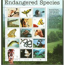 #3105 Endangered Species, Pane of 15