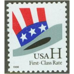 "#3260 ""H"" Hat Stamp from Sheet"
