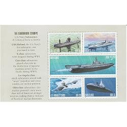 "#3377a2 Submarine Booklet Pane of Five ""THE SUBMARINE STAMPS"""