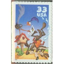 #3391a Wile E. Coyote, Single Stamp from Regular Souvenir Sheet
