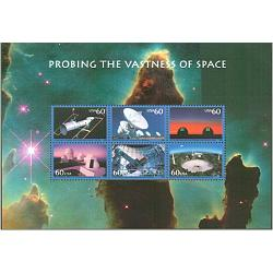 #3409 Probing the Vastness of Space Souvenir Sheet