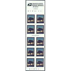 #3484d Bison Booklet Pane of 10 (Convertible Booklet)