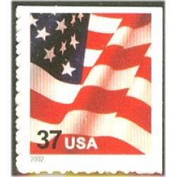 #3636 USA & Flag, Single Booklet Stamp
