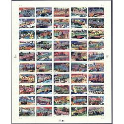 #3696-3745 Greetings from America 37¢ Sheet of 50 Stamps