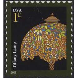#3749A Tiffany Lamp, Self-adhesive Sheet Stamp, 2008 Year Date