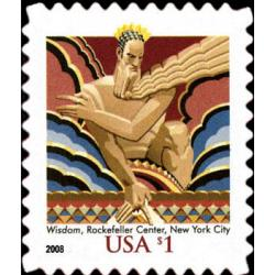 #3766a $1 Wisdom Stamp, Reissue 2008 Year Date
