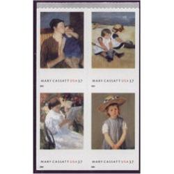 #3807a Mary Cassatt American Painter, Block of Four, American Treasures Series
