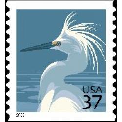 "#3829 Snowy Egret, Coil ""2003"" Year Date"