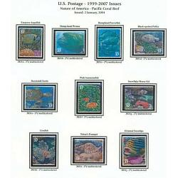 #3831a-j Pacific Coral Reef, Nature of America Set of Ten Single
