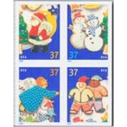 #3956a Holiday Cookies, Block of Four from Convertible Book