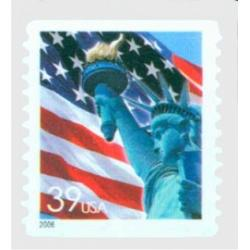 #3980 Flag & Lady Liberty, Self-adhesive Coil Stamp, Die-cut 11