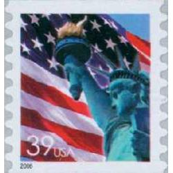 #3983 Flag & Lady Liberty, Coil Single, Die-cut 8½