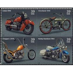 #4088a Motorcycles, Block of Four