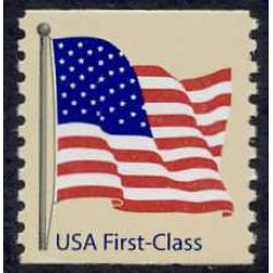 #4131 American Flag, Non-denominated Coil, Perforated 9¾ W-A