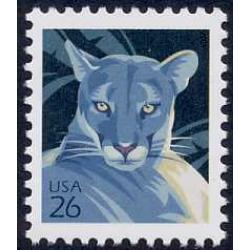#4137 Florida Panther, Single from Water-activated Sheet of 100